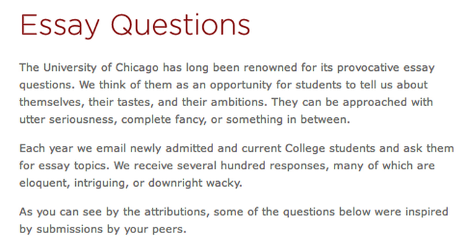 Uchicago essays top 3 uchicago admissions essays study notes